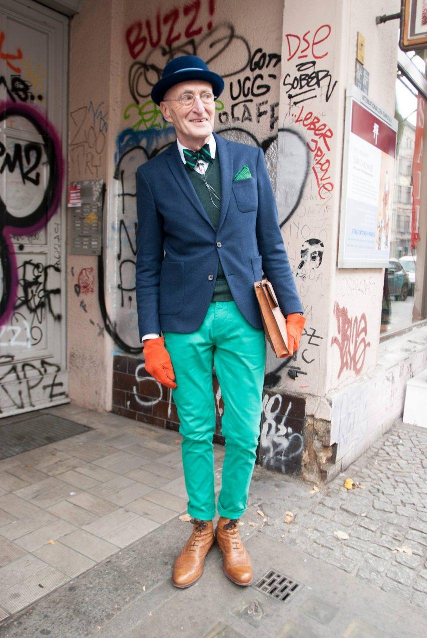 стильный пенсионер Берлина