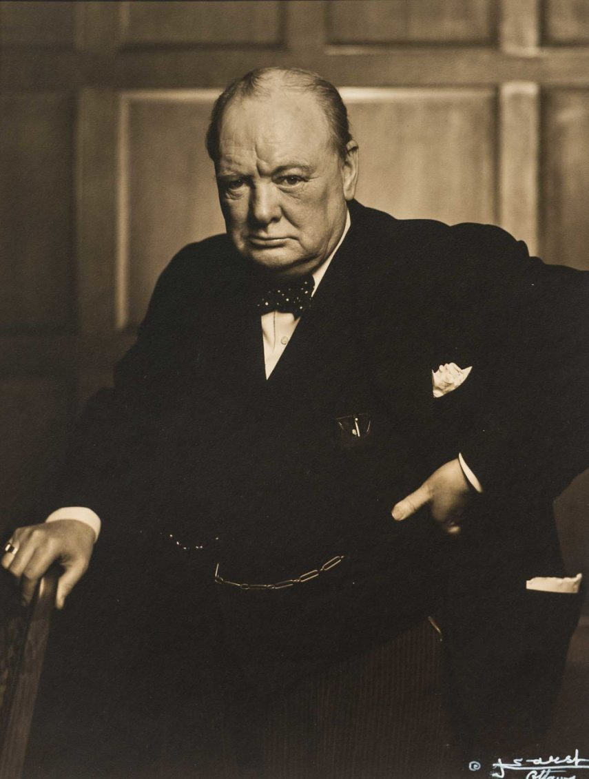 Winston Churchill, Photograph By Yousuf Karsh, 1941