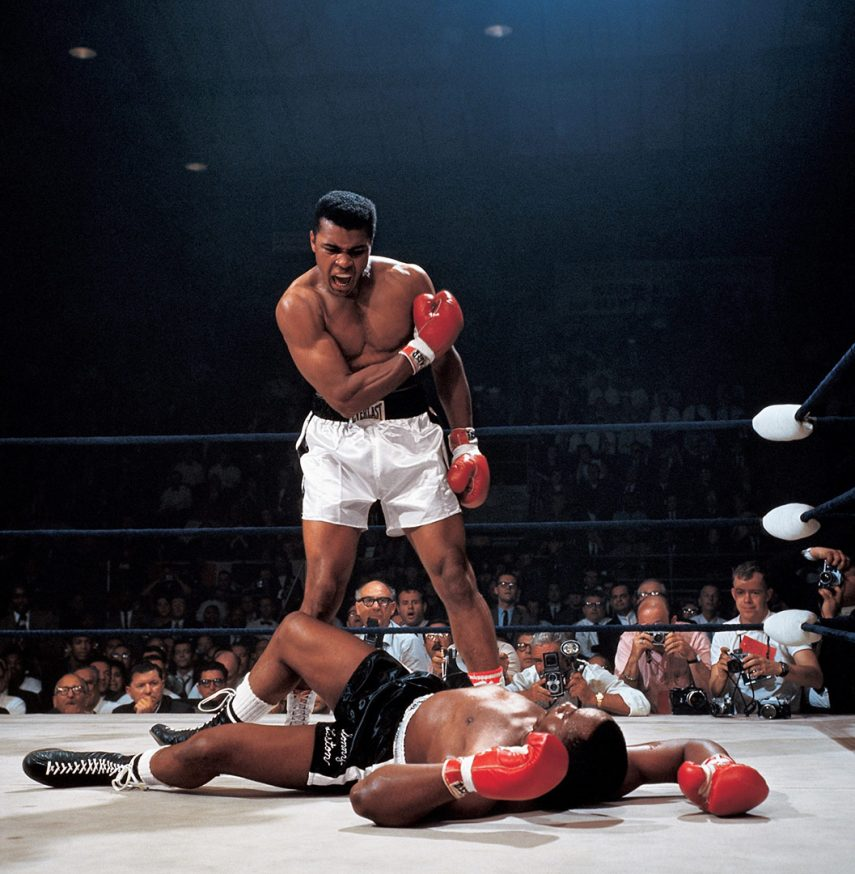 Muhammad Ali Vs. Sonny Liston, Photograph By Neil Leifer, 1965