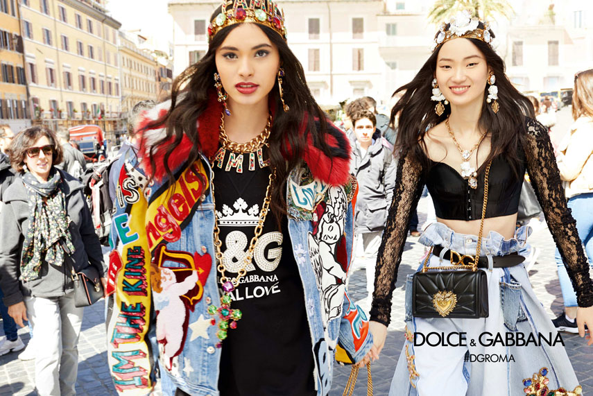 Dolce e Gabbana Fall 2018: кампейн в римском стиле