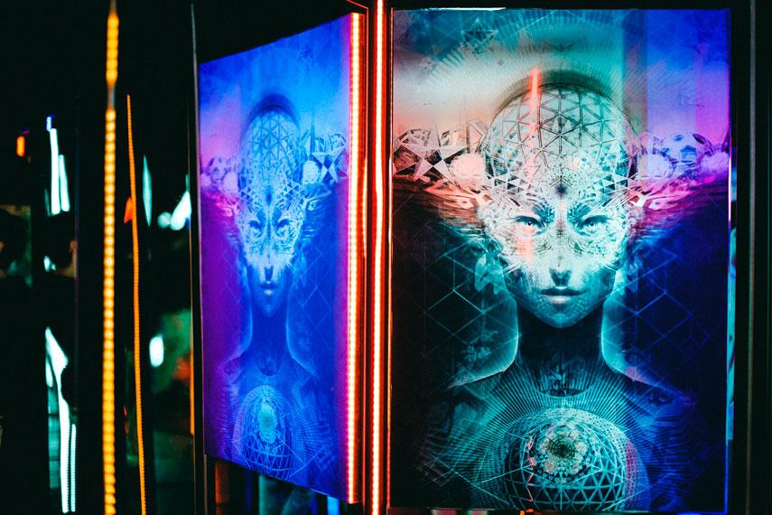 мультимедийная выставка Samskara в Киеве