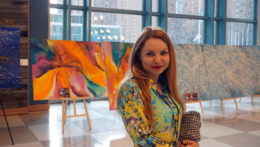 Художница Ольга Кондрацкая: выставка «Река жизни» в Нью-Йорке