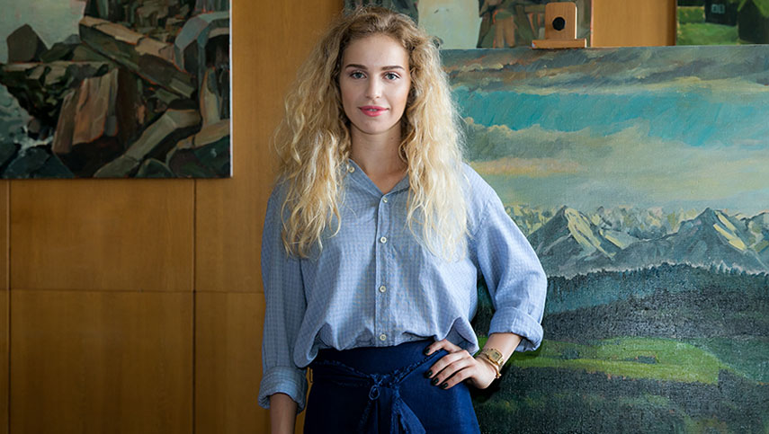 Анна Бондар открытие персональной выставки