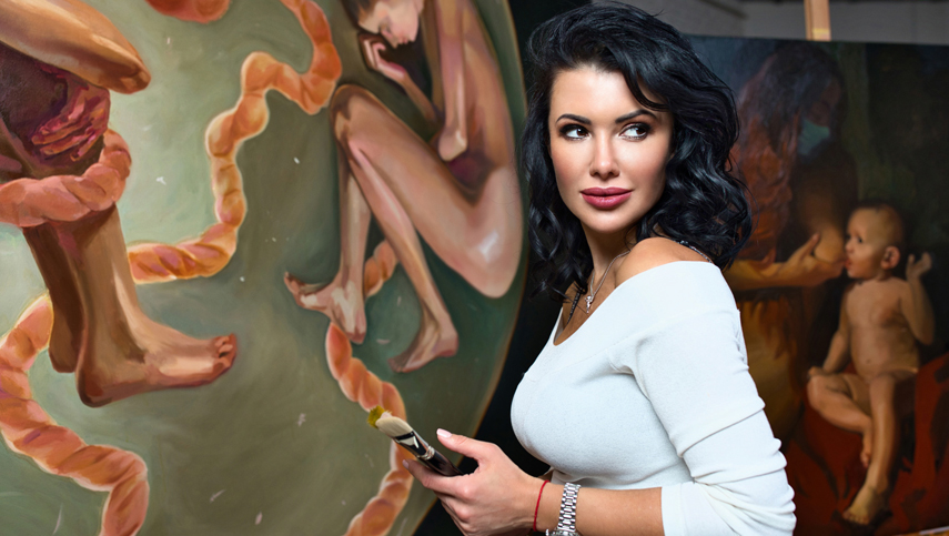 В Киеве презентуют персональную выставку известной художницы «Искусство против насилия»