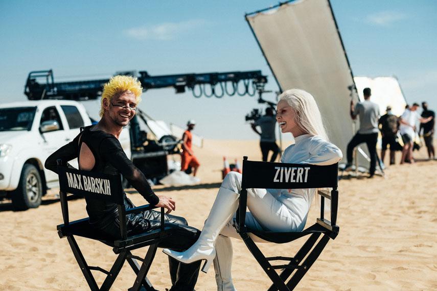 Макс Барских и Zivert показали первые кадры со съемок клипа